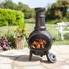 Steel Chiminea Steel Chiminea Barbecuing U0026 Outdoor Heating Ebay