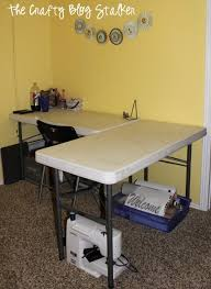 Diy Craft Desk How To Make A Custom Craft Table The Crafty Stalker