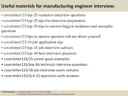 top 5 manufacturing engineer cover letter samples