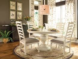 paula deen home round oval pedestal dining table linen finish by