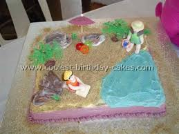 beach party themed cakes tidal treasures
