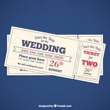 ticket wedding invitations wedding invitation tickets vector free