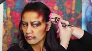 voodoo witch air brush face paint tutorial youtube