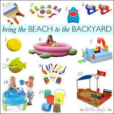 bring the beach to your backyard kids summerfun kiddie things