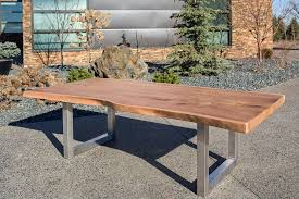 live edge outdoor table live edge elm dining table living edge handcrafted furnishings