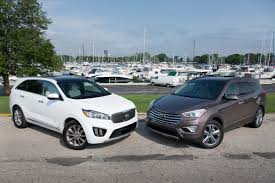 hyundai jeep 2017 suv comparison 2016 kia sorento vs 2015 hyundai santa fe news