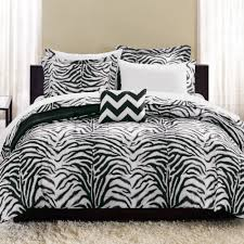 Premium Bedding Sets Mainstays Zebra Bed In A Bag Complete Bedding Set Walmart