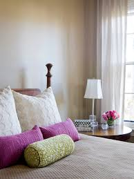 bolster bed pillows chenille throw bedroom eclectic with accent colors bed pillows
