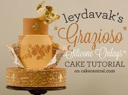 wedding cake tutorial leydavak s grazioso silicone onlays wedding cake tutorial
