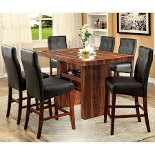 contemporary counter height table furniture of america audrey 7 piece contemporary counter height