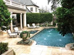 Extravagant Backyards - the extravagant courtyard features a grecian style pool with water