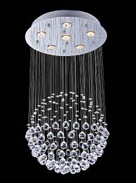 Contemporary Ceiling Lights by Saint Mossi Chandelier Modern Crystal Raindrop Chandelier Lighting