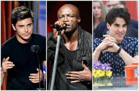 zac efron in 2010 seal in 2016 and darren criss in 2016source getty