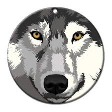 wolf ornament mandys moon personalized gifts