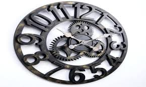 decorative wall clock wall clock with moving gears laser cut planetary gears wall clock