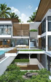 Modernhouse by 3dof Building Tropical Modern House Stock Photo Picture And