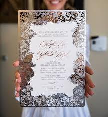 laser cut wedding programs unique laser cut wedding invitations laser cut wedding