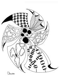 zentangle simple by 4 zentangle coloring pages for