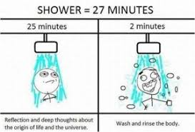 Shower Meme - saving in the showers tips to save money and water