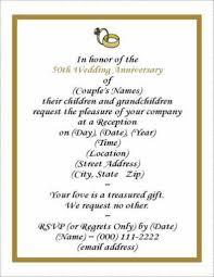 6 best images of 50 wedding anniversary invitation templates