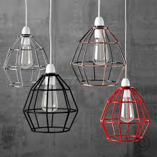 vintage industrial style metal cage wire frame ceiling pendant