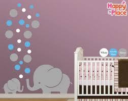 Large Nursery Wall Decals Elephant Nursery Wall Decal Large Sticker Decor Modern Mural Am039
