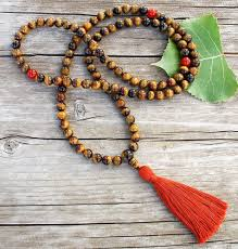 praying necklace tigers eye mala prayer designs