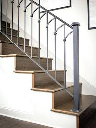 painting metal stair rails best stairs ideas on steel fixer upper a rustic dream home iron painting metal stair