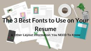 The Best Font For Resumes The 3 Best Fonts To Use On Your Resume Layout Guide With Images