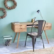 dessous de bureau bureau en bois de teck 4 tiroirs bois dessus bois dessous pas cher à
