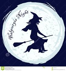 walpurgis night witch stock vector image 68854365