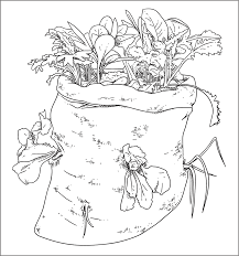 coloring pages vegetable garden www mindsandvines com