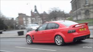 vauxhall vxr8 wagon red holden vauxhall vxr8 drive by idle light acceleration