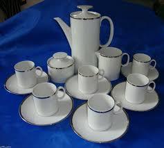 Coffee Set rosenthal medallion coffee set thick silver line ebay