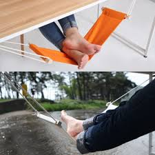 portable mini foot rest stand desk feet hammock easy to