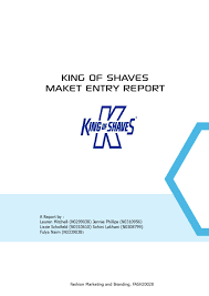 Perceptual Map King Of Shaves Marketing Plan By Lauren Mitchell Issuu