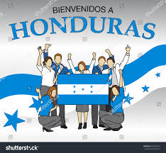 The Flag In Spanish Bienvenidos Honduras Welcome Honduras Spanish Language Stock
