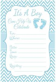 30 baby shower invitations boy with envelopes baby