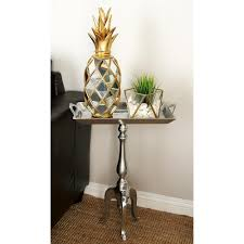 aluminum accent table silver rectangular handled aluminum tray accent table 27467 the