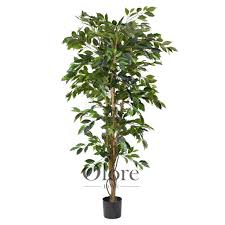 artificial ficus tree premium green 5ft indoor artificial tree