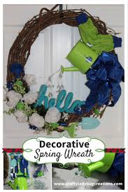 decorative spring wreath for your front door crafty ladybug