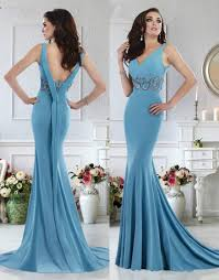 Formal Gowns Janique Evening Dresses 2016 V Neck Sweep Train Backless