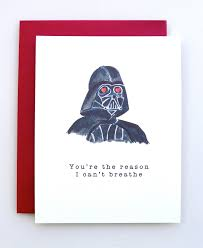 star wars birthday greetings valentine u0027s day card darth vader funny valentine star