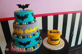 birthday cake superhero baby shower batman aqua silver yellow