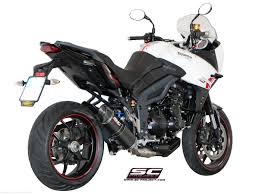 low mount oval exhaust by sc project triumph tiger sport 1050
