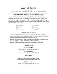 Free Example Of A Resume by Simple Resume Template Word 20 Free Example Of Format Dietician