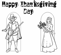 Happy Thanksgiving Pilgrims Pilgrim Man And Woman Sunnie Bunniezz Coloring Activity Page