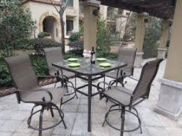 Bar Height Swivel Patio Chairs Bar Height Patio Furniture Sets Foter