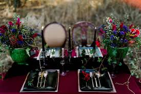 Red And Black Wedding Dramatic Red And Black Forest Wedding Full Of Mystery Magic