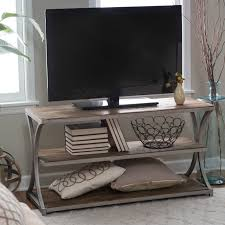 home theater console furniture belham living edison reclaimed wood console table hayneedle